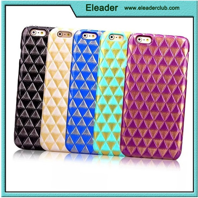 for iphone 6 Lagging PU Leather Hard Back Case