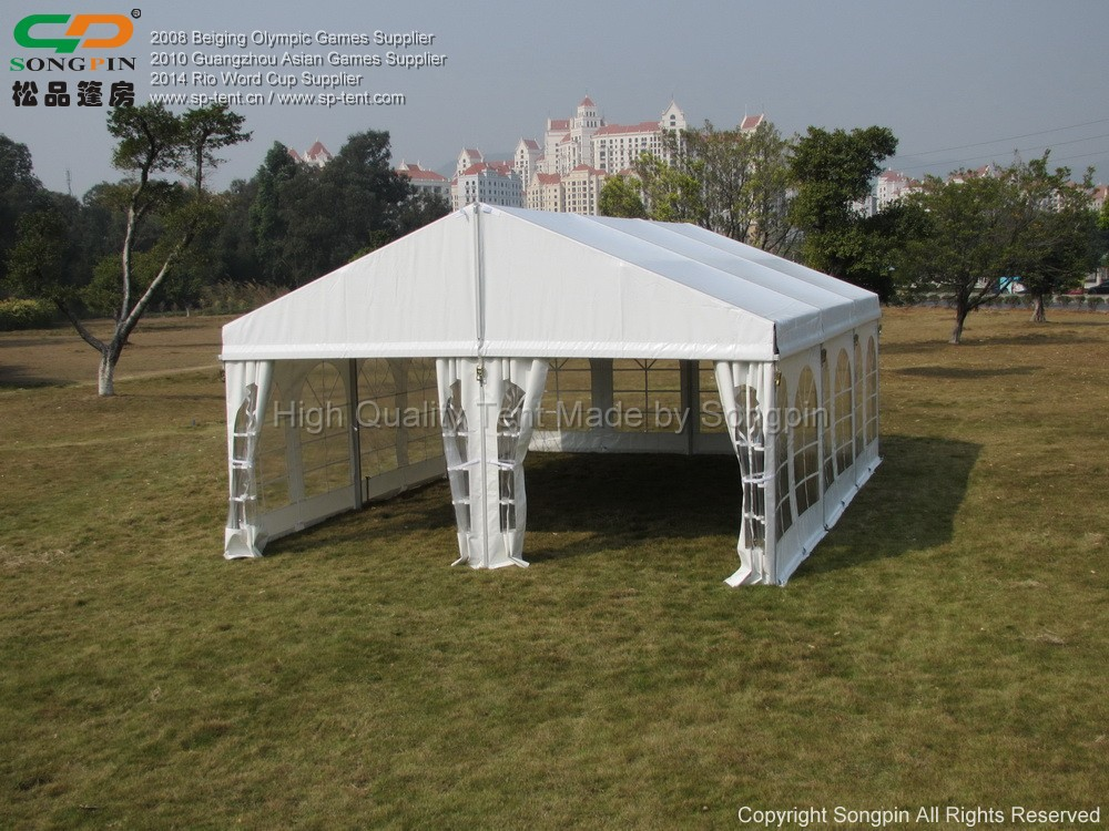 6mx9m luxurious aluminum wedding party church tent for sale with white fabric