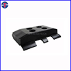 unitary type rubber track shoe pad for milling machines