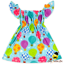 48BQA202-25 Yihong Balloon Print Fluffy Cap Off Shoulder Dress Dresses For Girls Of 10 Years Old Fashion Kids Girls Dresses