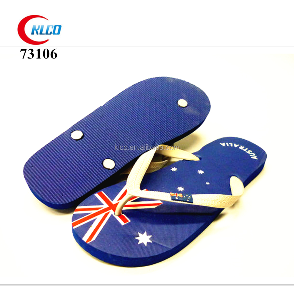 Australia pattern PVC upper straps chatties flip flops sublimation