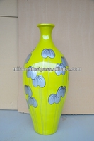 2014 Vietnam bamboo lacquer floor vase for home decoration