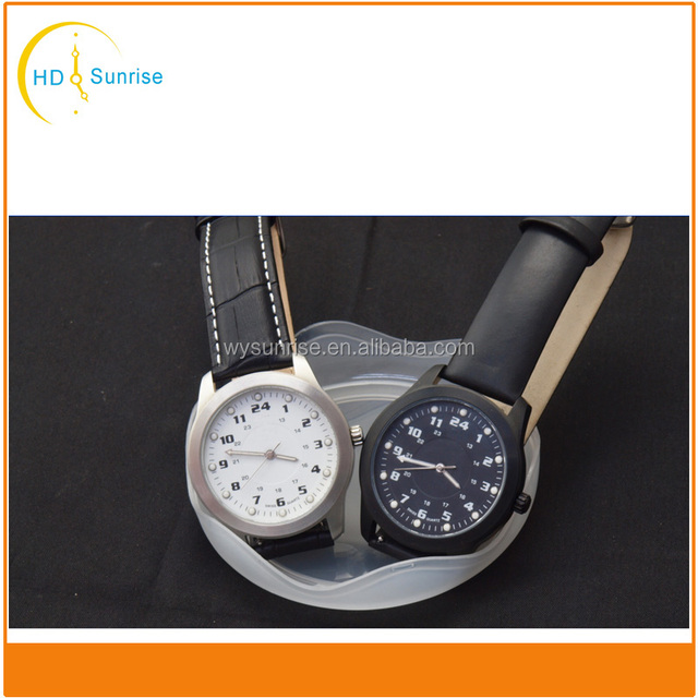 wholesale leather strap vogue men military stainless steel case back wrist watch custom free logo watches