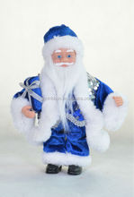 White Deards and Blue Garment Wrapped Outdoor Decoration lowes christmas santa claus