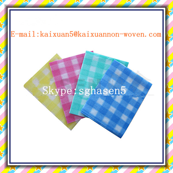 [FACTORY] Disposable non-woven dishcloth/household nonwoven wipes/kitchen wiping cloth---Spunlace