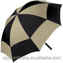 68.5cm*14k auto open big black garden line umbrellas for sun protection