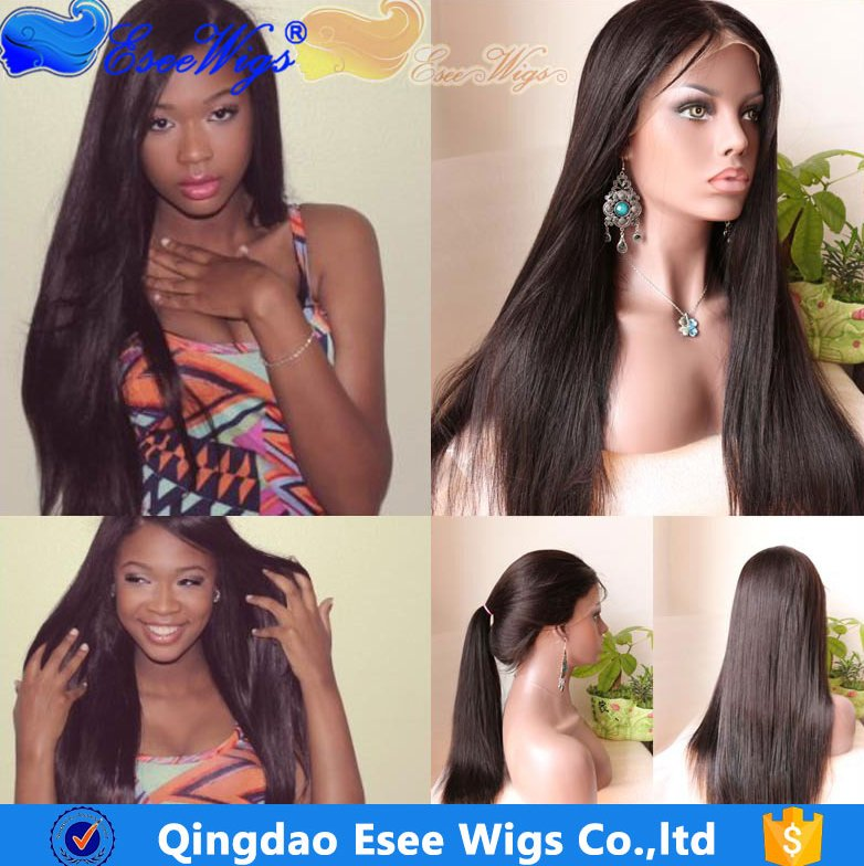 Brazilian Hair lace front wig or Full Lace Wig with Baby Hair Glueless Full Lace 100% Human Hair Wig 120% Density Straight