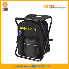 Promotional folding outdoor thermal travel chair easy seat cooler bag with chair