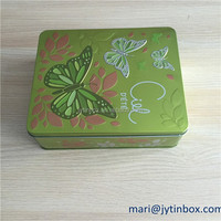 China factory embossing square metal containers