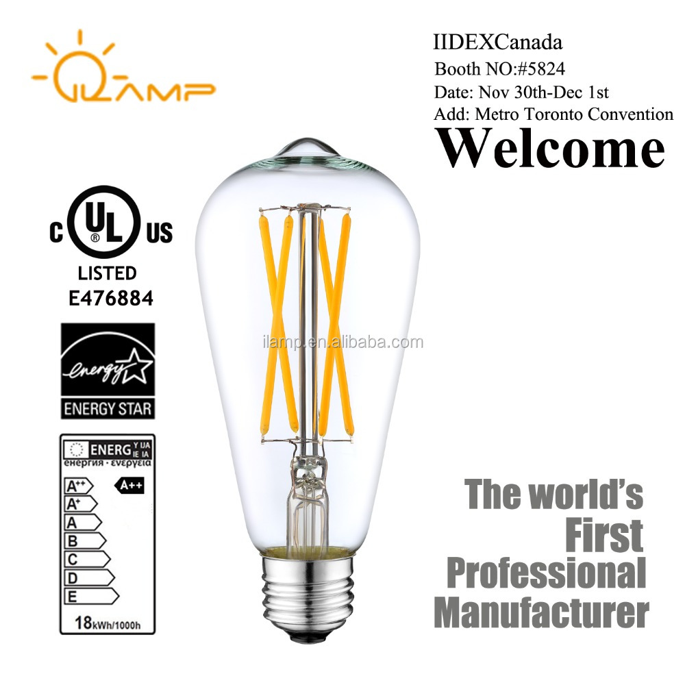 with 4 years manufacturer experience factory supply safety Edison bulb ST64 led lamps replace 60w