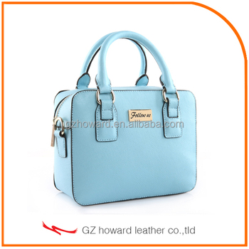 Fashion design PU leather lady handbag