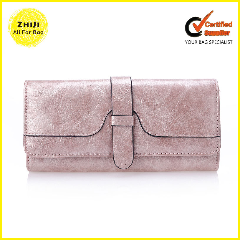 Female Wallets Custom High Quality Lady Pure Leather Evening Clutch Bag Purses Fashion Wallet With Id Window