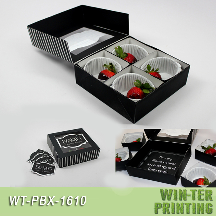 WT-PBX-1610 Cupcake take away food box with tray