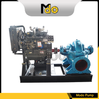 Single Stage Double Suction Centrifugal Water Pumps Large Flow