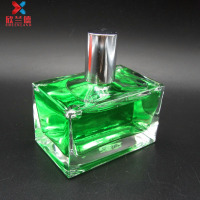 50ml cuboid square shape man's perfume bottle glass refillable perfume spray bottle