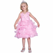 China Supplier Baby Girls Wholesale Children Party Girls Flower Baby Maxi Sleeveless Dress