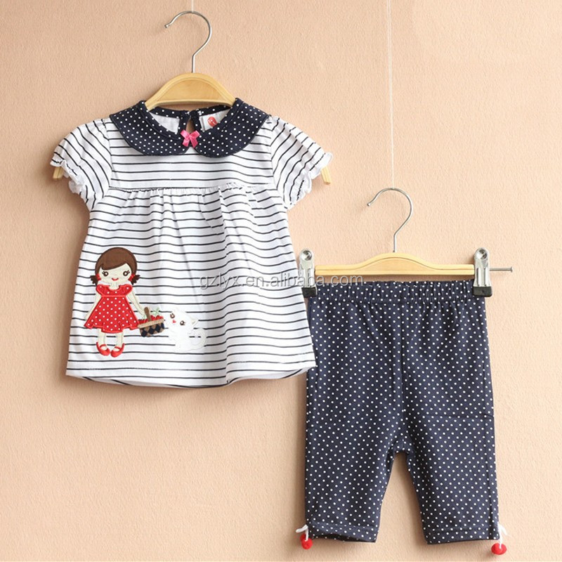 Kids clothes wholesale boutique clothes set with gingham tops and polka dot legging outfits drop shipping