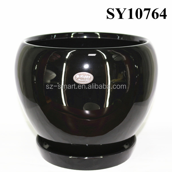 customized color small cheap flower pots with saucer