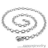 1mm cable chain small stainless steel jewelry chain