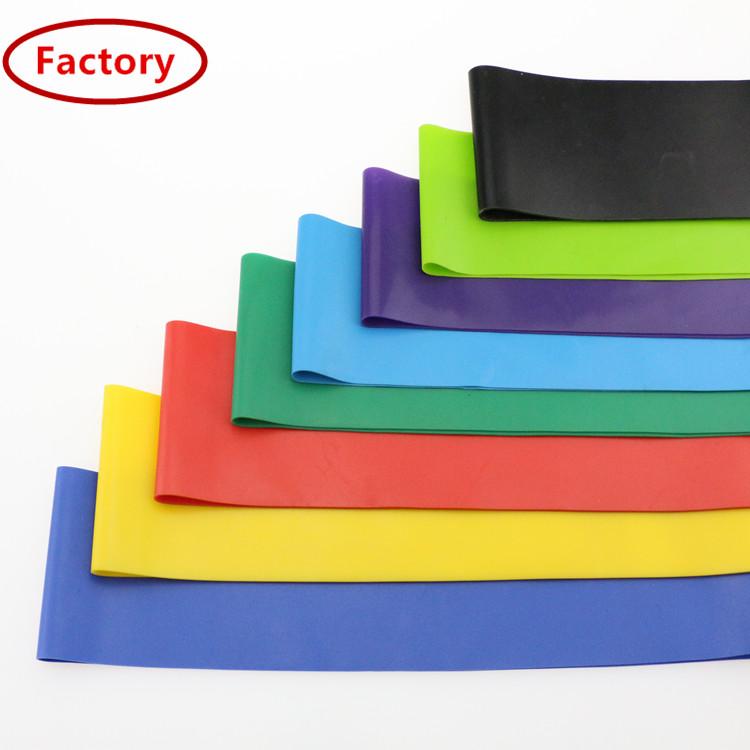 Thailand eco-friendly cheap price elastic ecercise knee flat rubber bands