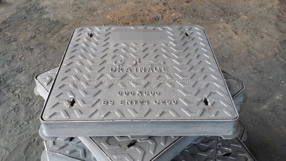 Double seal manhole cover EN124 C250