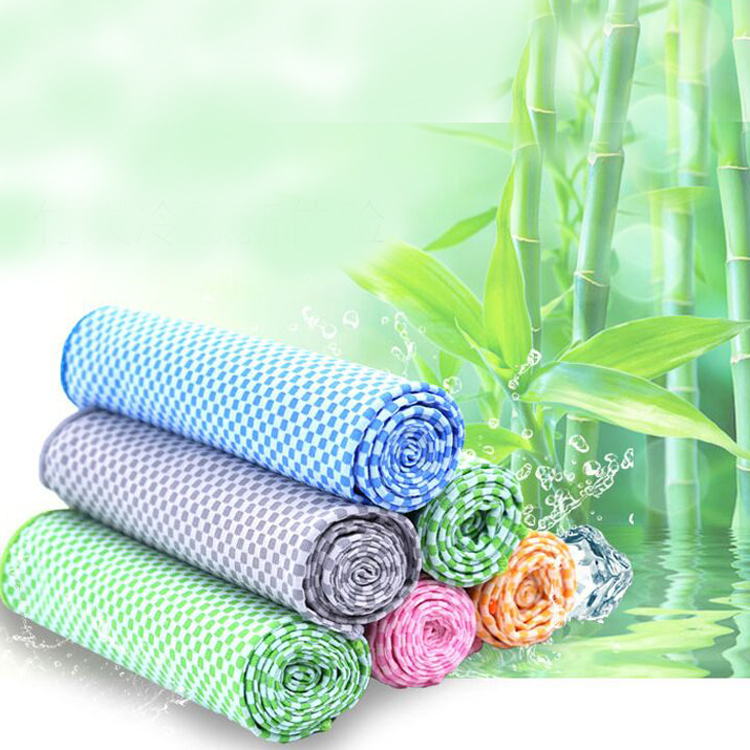 60% nylon 40% bamboo fiber cooling towel all purpose cooling towel