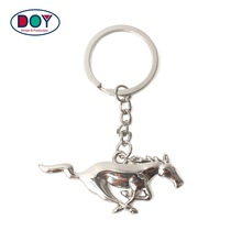 Wholesale Metal Key Chain Custom 3D Cute Animal Logo Keychains with Key Tag Ring for Promotional Gifts