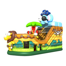 Animal boat theme park bounce house with water slide bouncer inflatables slide castle