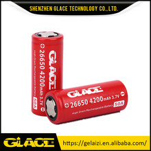whole sale 26650 battery glace imr 3.7v 4200mah Max 50A rechargeable battery for dewalt power tools