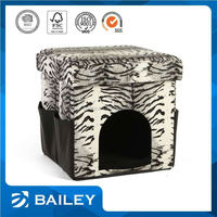 Soft Warm Short Plush Washable and Detachable Pet Dog Bed House Kennel