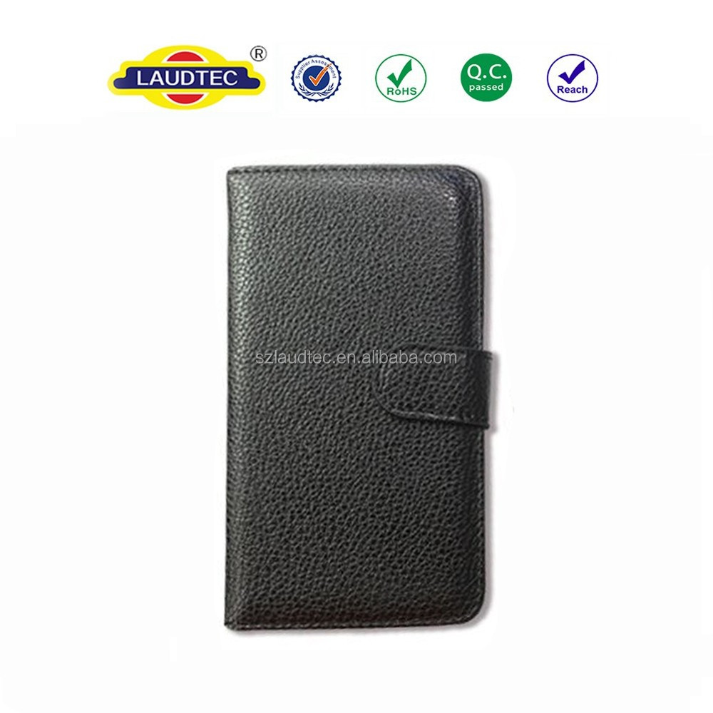 For EE Harrier Mini Magnetic Leather Wallet Flip Case Cover in Book Style with Screen Protector Film