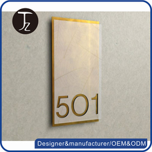 Casting Craftsman.Customized metal/acrylic guest room sign number plate.