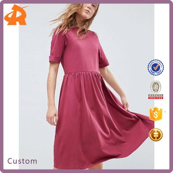 custom made your latest dress designs,short sleeve girls jersey dress