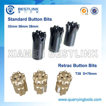Manufacture in China Quarry Stone Button Bits