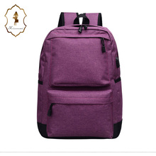 Famous designer design backpack Leisure school New Stylish USB Charging Backpack male school backpack