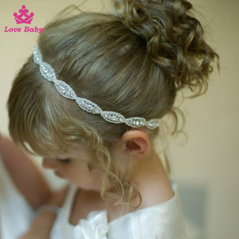 High Quality Luxury Boutique Baby Girls Headband Princess Set Drill Kids Hair Headbands