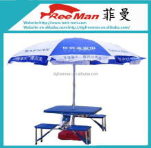 UV protection advertising garden bench with umbrella