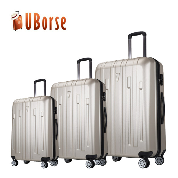 Women and Men Bright Color Trolley Handle PC Travel luggage 2017 abs