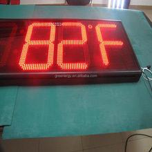 Low price Good quality led time temperature sign/ led gas station display/ outdoor digital clock