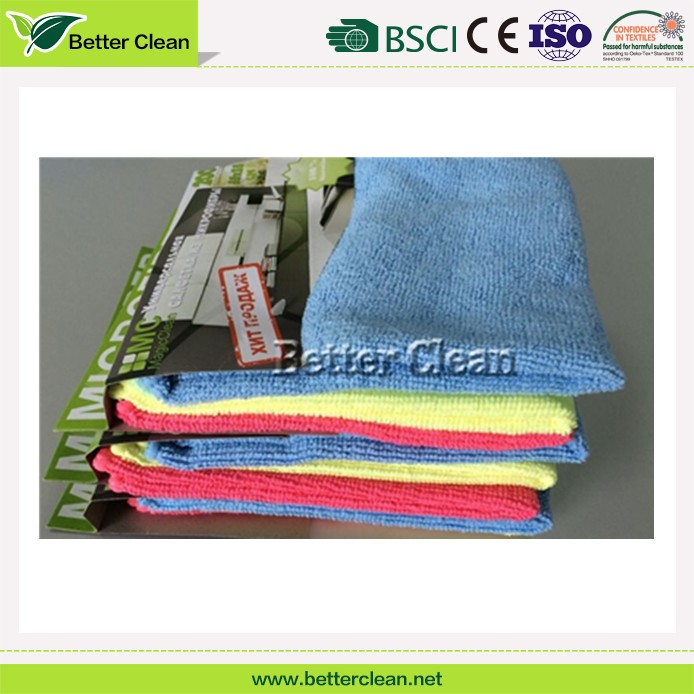 Custom factory promotion yarn dyed microfiber cleaning kitchen tea towel