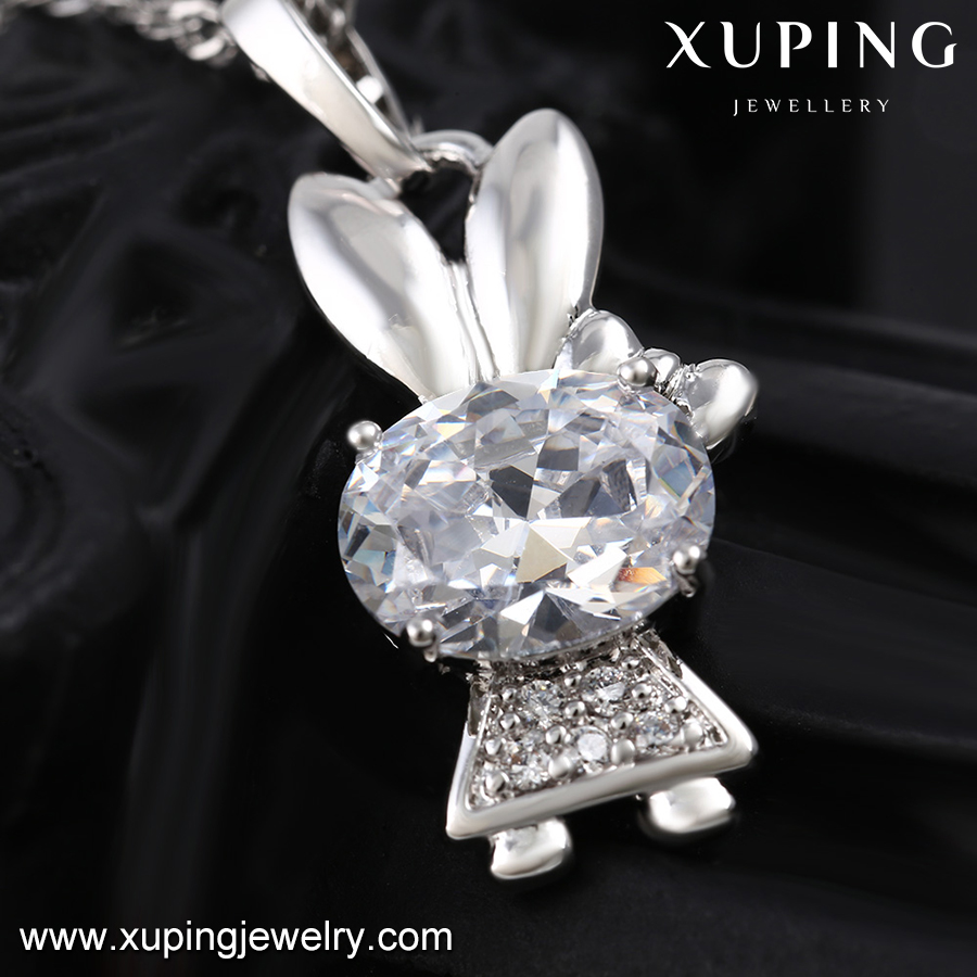 32086 XUPING candy shape silver color plated cute diamond pendant fake gold pendant