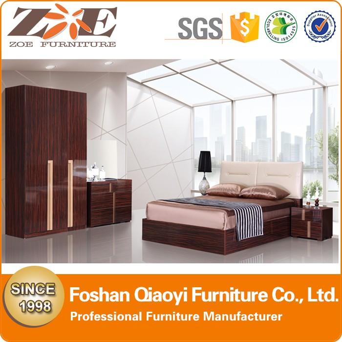 QIAOYI Furniture factory Modern design durable bedroom set for home