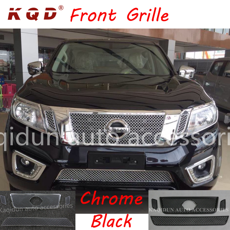 Car exterior accessories front grille chrome&black for navara np300