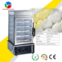 bun used steamer with steam pot/food display steamer of dim sum steamer/pastry warmer display bread