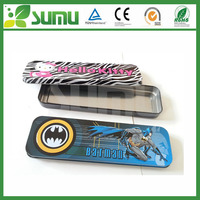 High quality Children School student Metal Tin metal pencil box 0.22mm Tinplate pen case