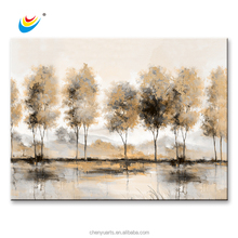 Neutral Colour Trees plant 100% HandPainted Abstract Oil Painting Art Canvas Print Wall Home Decor Unframed Framed
