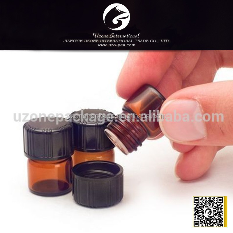 1/4 dram amber glass vial bottle supplier with essential oil bottle