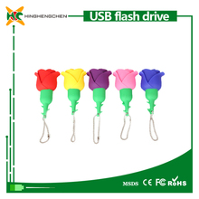 Beautiful Flower rose shaped usb 64 gb 128 gb 2tb usb flash drive pen drive low cost