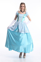 New Arrival Noble Cinderella Costume Women Elegant One-piece Dress Princess Costume A Leading Lady In Party Halloween