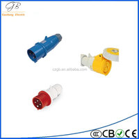 EURO standard 15a dustproof industrial plug with high quality and low price